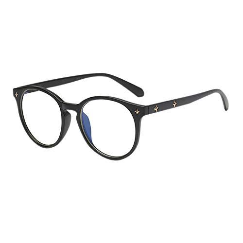 Meijunter Oval Rahmen Eye Protection Gläser - Anti UV Computer Spiel Blue Light Blocking Brille Reis Nagel Beine Männer Frau Glasses (Matt Schwarz)