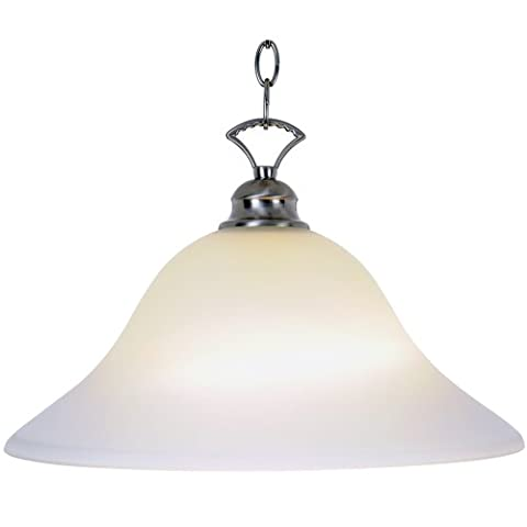 AF Lighting Af Lighting 617255 16 Inch W By 9 1/2 Inch H Wellington Lighting Collection 1 Light Pendant Brushed Nickel 16-Inch W By 9-1/2-Inch H Brushed