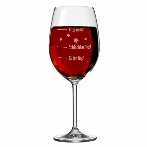 XL LEONARDO Jumbo WeinglasGuter Tag, schlechter Tag. - Stimmungsglas - Weinglas - groß - mit Spruch - Geschenk -Weihnachtsgeschenk - Geburtstagsgeschenk - Geschenkidee