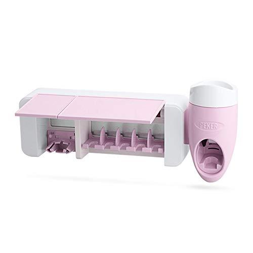 JMung'S UV Ultraviolett Zahnbürste Sanitizer Automatische Zahnpastaspender Antibakterielle UV-Wandhalterung für Automatische Zahnbürste für Badezimmer, Kinder,Pink (Zahnbürste Sanitizer Uv)