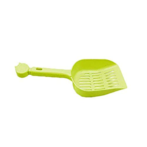 PRENKIN Süßigkeit-Farben-Katze-Sand Schaufel aushöhlen Streuschaufel aus Kunststoff Scooper Pet Stiel Reinigungswerkzeug
