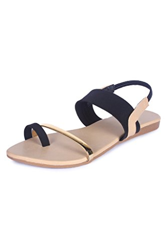 High Brands Women's Black Casual Flats - Sm194