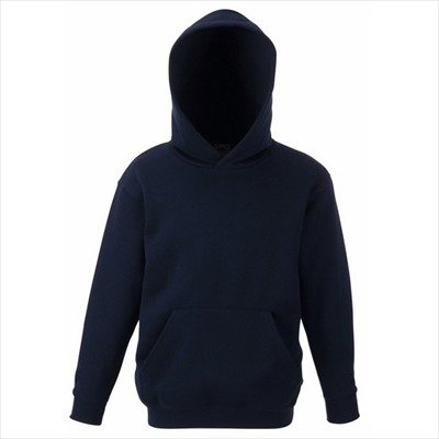 Fruit of the Loom - Classic Kinder Kapuzen-Sweatshirt 'Kids Hooded Sweat' 128,Deep Navy