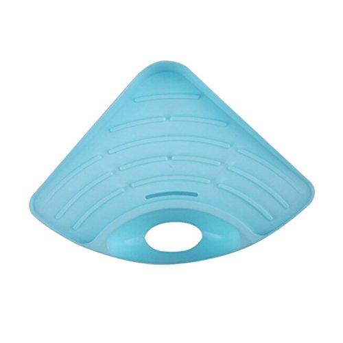 ounona-mensola-angolo-triangolo-bagno-sapone-spugna-titolare-cucina-lavello-piatto-scarico-blu