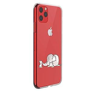 Fantasyqi Handyhülle Kompatibel mit iPhone 11 6.1 Hülle Transparent Muster Schutzhülle Silikon Hochwertigem Soft TPU Ultra Slim Stoßfest Ultradünne Schale Kratzfest Slim Shell Case
