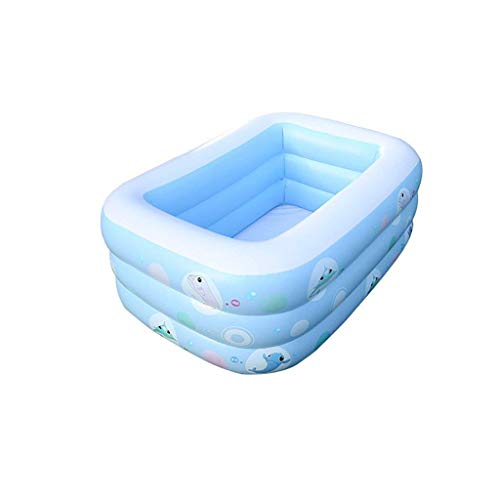 Badewanne, Pools Infant Kind elektrische Pumpe aufblasbare Pool Familie Baby Erwachsene Kinder Paddel-Pool Thick Startseite Pool Blau Badewannen -150cm Tub