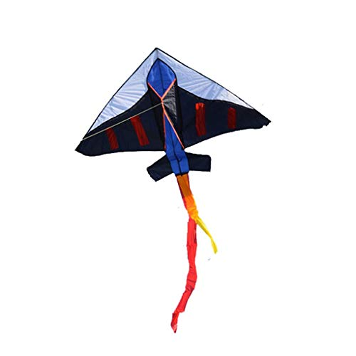 Fliegender Drachen Neuheit Flugzeug Form Outdoor Kinder Entwicklung Spielzeug Nylon Reißfest Outdoor Freizeit Sport Kite (Color : Black, Größe : 200 Meter line) -