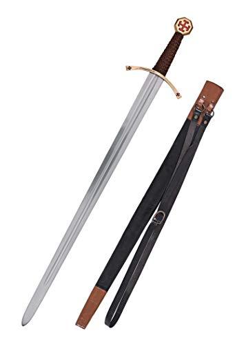 Templer-Schwert mit Scheide Kreuzfahrerschwert Ritter Mittelalter - 2