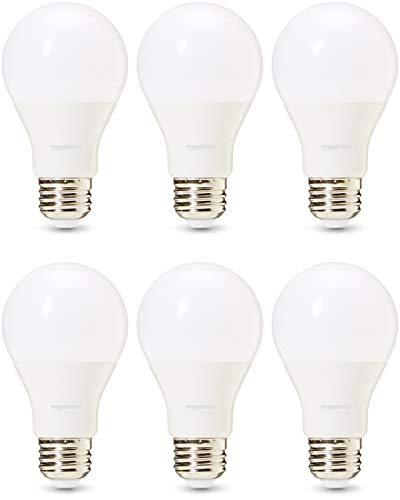 AmazonBasics Professional - LED-Leuchtmittel, Edison-Schraubgewinde (E27), entspricht 60-Watt-Birne, Warmweiß, dimmbar, 6 Stück