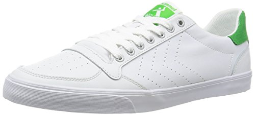 HummelSlimmer Stadil Ace - Scarpe da Ginnastica Basse Unisex - Adulto , bianco (Weiß (White/Green 9208)), 44 EU