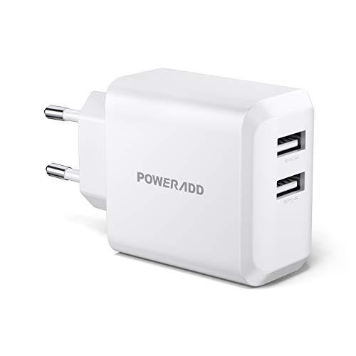 POWERADD Cargador Pared 24W 2 USB Salida 5V/2.4A*2