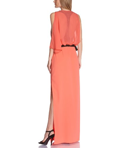 BCBG MAX AZRIA - Vestito, cocktail, senza maniche, donna Arancione (Orange (Coral Reef))