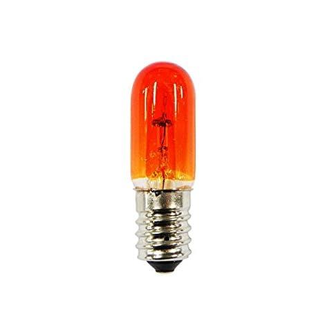 Ampoule à vis E14 24V 25W orange