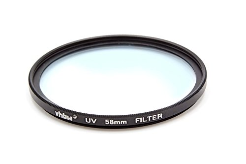 vhbw Universal UV-Schutz Filter 58mm für Kamera Canon EF-S 18-55 mm 3.5-5.6 is STM, EF-S 55-250 mm 4-5,6 is STM.