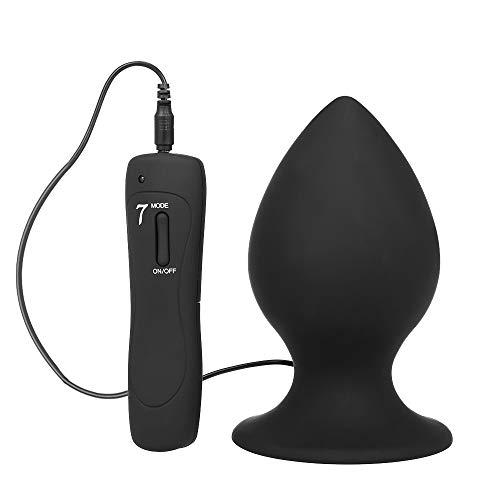 Anself Analvibratoren Analplug Massagegerät Prostata Stimulator mit 7 Vibrationsmodi, Medizinisches Silikon Sexspielzeug für Paar