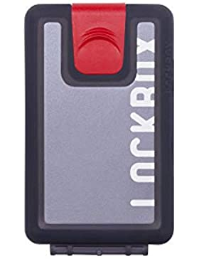 LOCKBOX Cartera Hombre Pequeña Impermeable, Billetero Resistente al Agua o Barro - Tarjetero Diseño Original -...