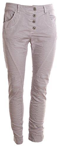 "Jeans pour femme coupe boyfriend aladin harem pantalon chino baggy taille basse boyfriendjeans boyfriendhose batik look ""destroyed"" Hellgrau Uni"