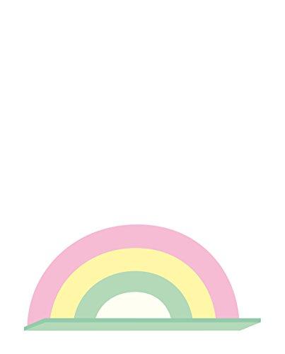 Regenbogen-holz-möbel (A Little Lovely Company - Regal, Wandregal, Kinderregal - Rainbow, Regenbogen, 37 x 18,5 x 12 cm)