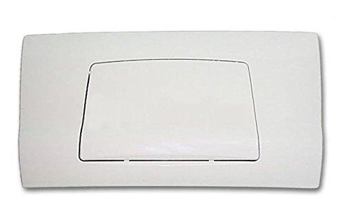 Pucci Placca Bianca (Cm 33x18) Completa di Telaio per Cassetta Incasso Mod. Sara