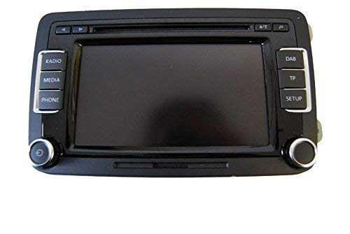 VW-Radio-RCD-510-Volkswagen-3C8-035-195-G-mit-MP3-Wechsler-SD-Slot-DAB-Tuner