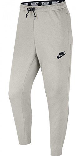 Nike Herren Air Fleece Jogger Hose, Light Bone/Black/Bla, XL (Fleece Air Pant)