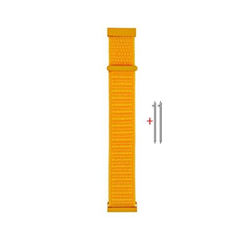 LANDUM Ersatzarmband aus Nylon,Watch Strap für Huami Amazfit Jugend Bip Gear S2 - Gelb