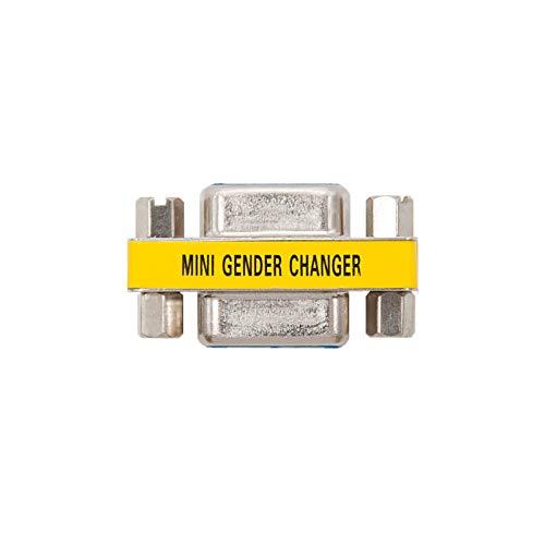 NANOCABLE 10.16.0001 - Adaptador SVGA, HDB15/H-HDB15/H, hembra-hembra