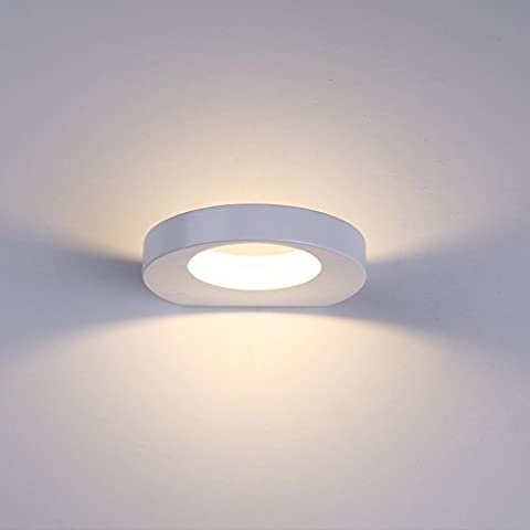 Lanfu 10W LED Wall Light for Bedrooms, Living Rooms, Staircases and Lounges, Warm White 2700K-3000K, 180 * 157 * 30mm