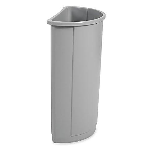 Rubbermaid Commercial 21gal Untouchable Half Round Trash Can - Platinum