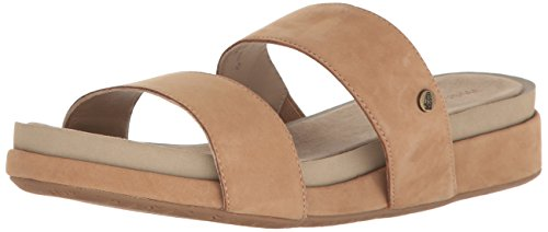 Hush Puppies Gallia Chrysta, Damen Sandalen, Braun (Tan), 41 EU (7 UK) (Leder Tan Jane Mary)