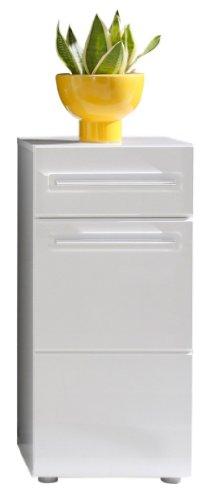 Trendteam Bora 1327-801-01 – Armario para baño (37 x 79 x 31 cm), color blanco brillante