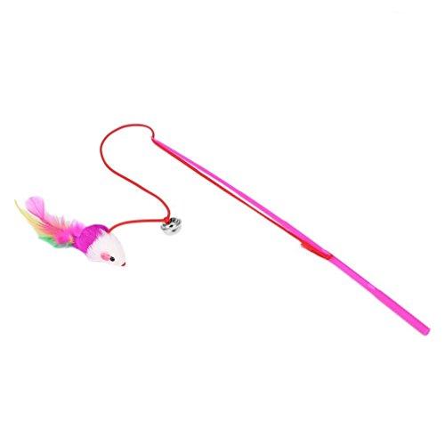 Preisvergleich Produktbild FairytaleMM Feather Toy Wand Teaser Zauberstab Katze Spielzeug Interaktive Versenkbare Stab Rod