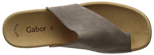 Gabor Shoes 03.700_Gabor Damen Pantoletten Grau (Fumo)