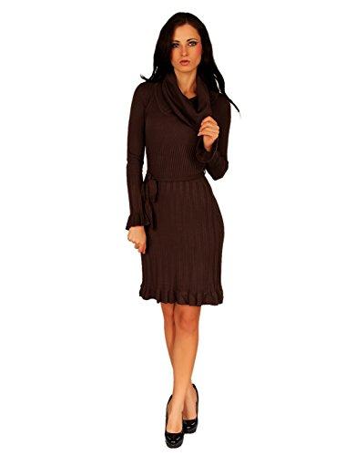 a4167bf9c59723 Few24 Kleid Strickkleid Knielang Herbst Winter Kleid Bequem Warm 12680