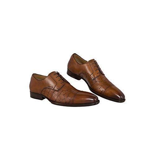 19V69 Versace 1969 Leder-Business-Schuhe V48 (Modell: C145 - Herren, Braun; Größe: 42) FBA