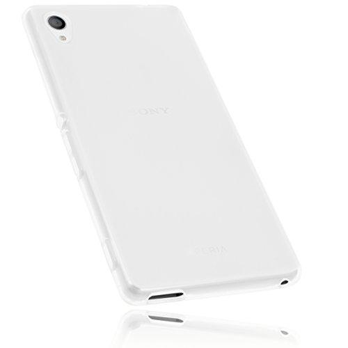 mumbi Schutzhülle Sony Xperia M4 Aqua Hülle transparent weiss