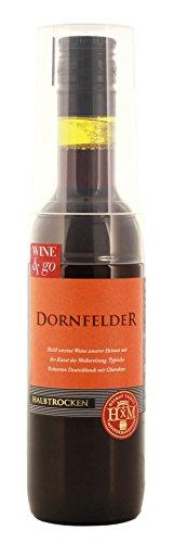 HxM - Dornfelder halbtrocken Rotwein to go mit Becher Piccolo 10,5% Vol. - 0,19l