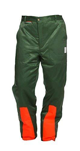 Schnittschutzhose Klasse 1, Forsthose WOODSafe®, kwf-geprüft, Bundhose grün/orange, Herren - Waldarbeiterhose mit Schnittschutz Form A, leichtes Gewicht (52)