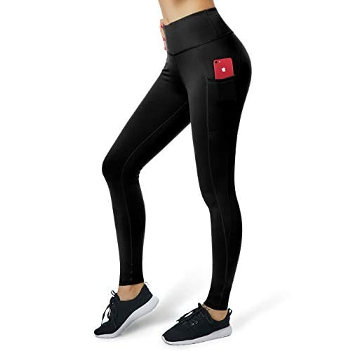 31BM09VCG8L. SS500  - ALONG FIT Gym leggings Women with Pockets, Yoga Pants Capris for Running Sports Workout Fitness Non See-through