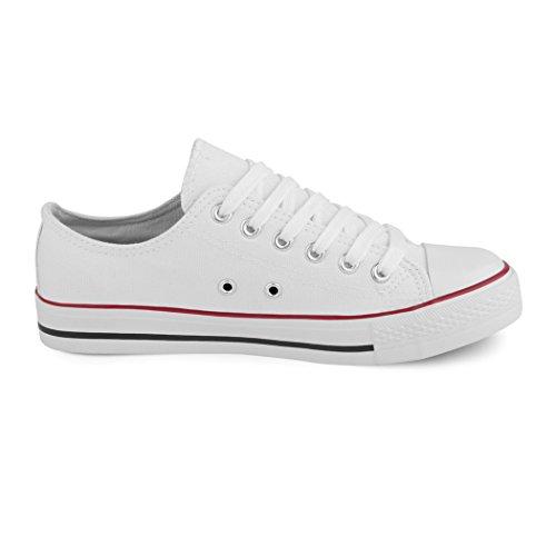 best-boots Damen Turnschuh Sneaker Slipper Halbschuhe sportlich new white