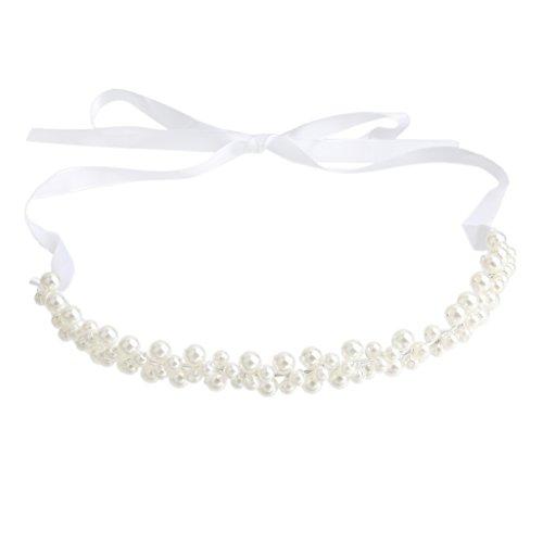 Bandeau de Cheveux Nuptiale Perle Synthétique Artisanal Vintage