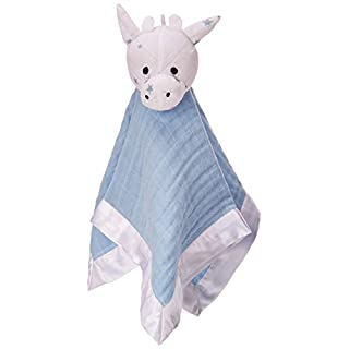 aden + anais musy mate lovey, 100% cotton muslin and hypoallergenic polyester, 40cm x 40cm, nigh sky reverie