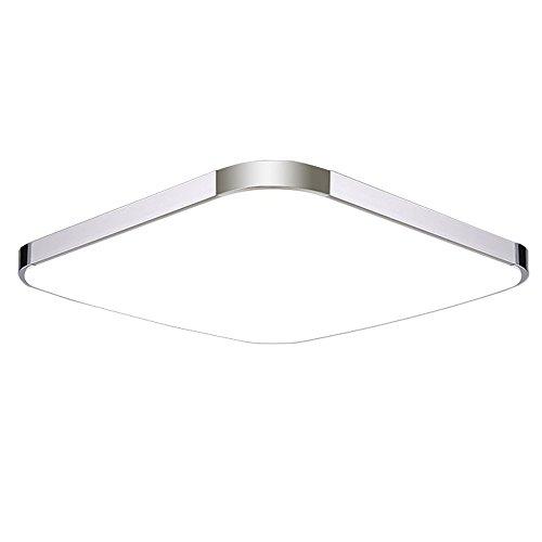 SAILUN 24W LED Blanc Chaud Plafonnier Lampe Moderne Lampe de Plafond pour salon, Cuisine, chambre à coucher, Salle de bain, Hôtel - Argent