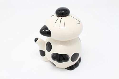 Keramik Tee Kaffee Zucker Kanister Set 3Caddy Jar creme Script creme Keramik (Keramik Cannister-set)