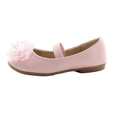 LIDOG Mariage Extérieure Habillé Décontracté Soirée & Evénement-Rose Blanc-Talon Plat-Confort Light Up Chaussures-Ballerines-Similicuir White