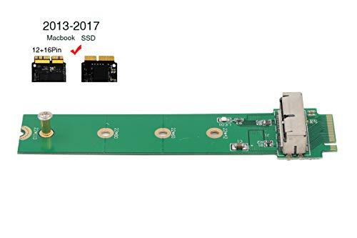 PCIe SSD auf M.2 Key M Adapter Karte, HDD Festplatte Konverter zu NGFF M2 für 2013 2014 2015 2016 2017 MacBook Air Pro Retina A1465 A1466 A1398 A1502