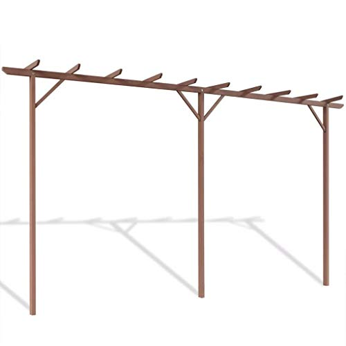 WT Trade Premium Gartenpergola Pergola 400 x 40 x 195 cm Braun | Holz-Kunststoff-Verbundwerkstoff |...