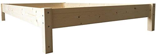 LIEGEWERK Futonbett Bett Holz Holzbett Massivholzbett 90 100 120 140 160 180 200 x 200cm, hergestellt in BRD (90cm x 200cm)