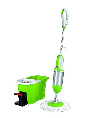 TV Unser Original 06020 cleanmaxx Spin Steam Mop 3-in-1, limegreen