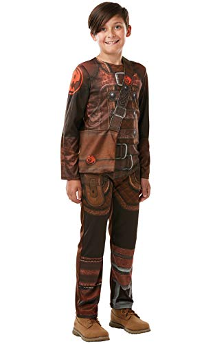 Kostüm Hiccup Dragon - Rubie's 300008 9-10 How to Train your Dragon Fancy Dress, Jungs, mehrfarbig